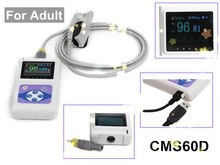 CMS60D Color Screen Display Electronic Portable Handheld Pulse Oximeter With Software oximetro