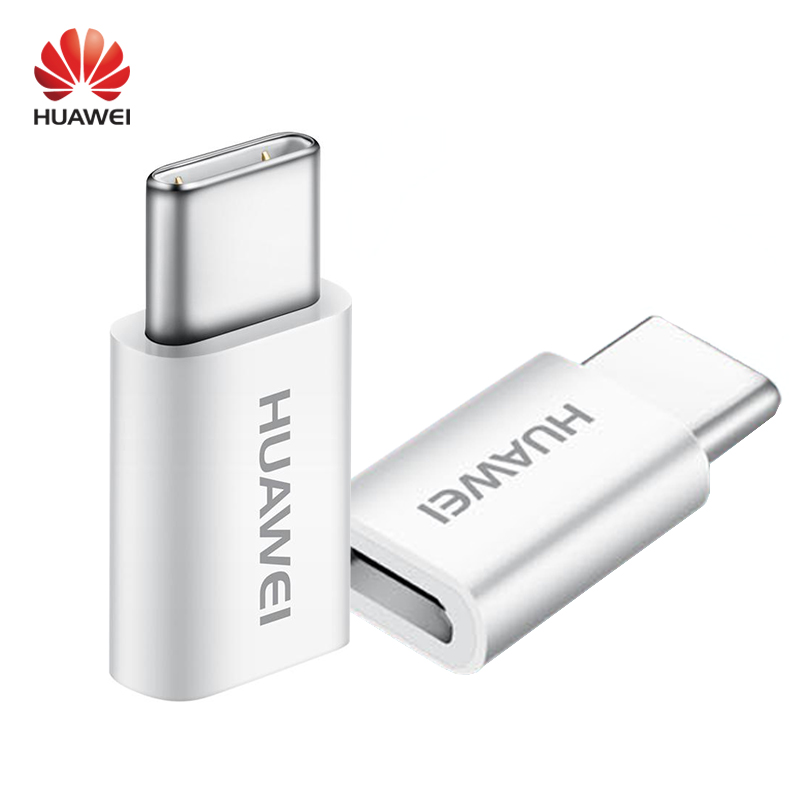 HUAWEI Micro USB to Type C Converter Original Type-c Cable Adapter Fast Charger honor 8 Supercharge P10 Plus mate 9 Pro nova P9