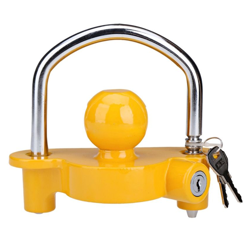 Boat Motorcycle Trailer Hitch Coupler Lock Ball Lock Height Adjustable