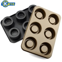 KMYC 6 Cavities Non Stick With Filling Cake Pan Bumps Creative Cupcake Mold Baking Tools Kitchen Accessories DIY Mini Mold