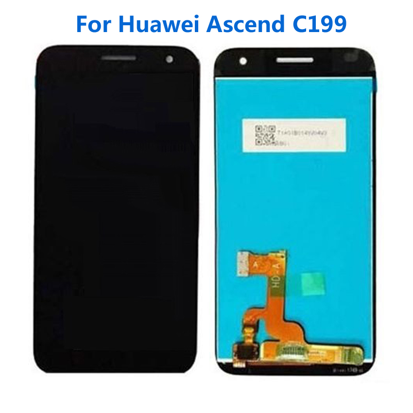 TOP Quality Black/White Full LCD Display Touch Screen Digitizer Assembly For Huawei Ascend C199 Replacement Repair Parts top quality black full lcd display touch