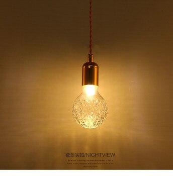 คริสตัลโมเดิร์นจี้ส่วนบุคคลโรงแรม aisle villa coffee shop หัว droplight