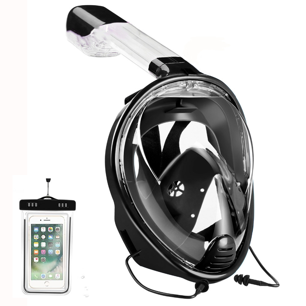 YaHey Underweter Diving Mask Anti Fog Full Face Mask Diving Snorkel 2 In 1 Training Scuba Snorkeling Mask For Gopro Camera scubapro crystal vu mask for scuba snorkelling diving water sports