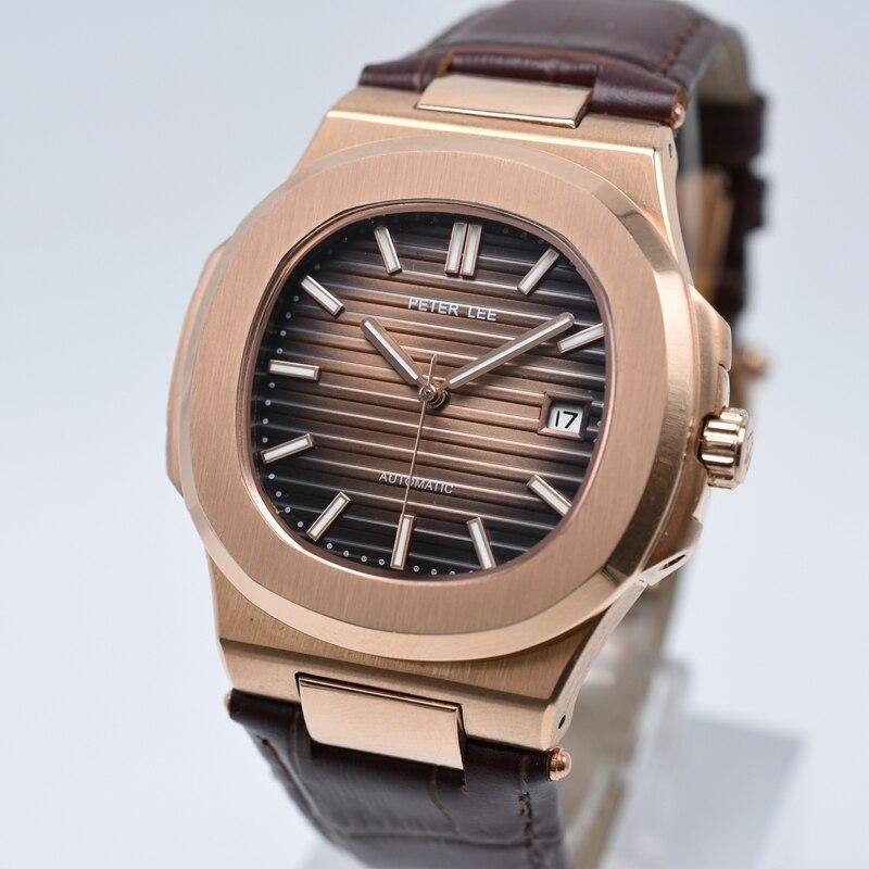 HTB1knQbd7fb uJjSsrbq6z6bVXaM PETER LEE Sport Classic Men Watch Top Brand Leather Straps Mechanical Watch Fashion Male Clocks Business Unisex Watches Gift