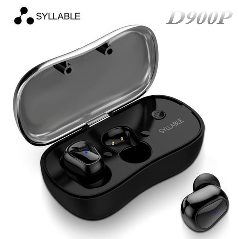 Nouvelle Arrivée SYLLABE D900P Jumeaux Bluetooth Écouteurs Sans Fil Stéréo Intra-auriculaires Sweatproof Sans Fil Basse Sport Écouteurs pour Téléphone