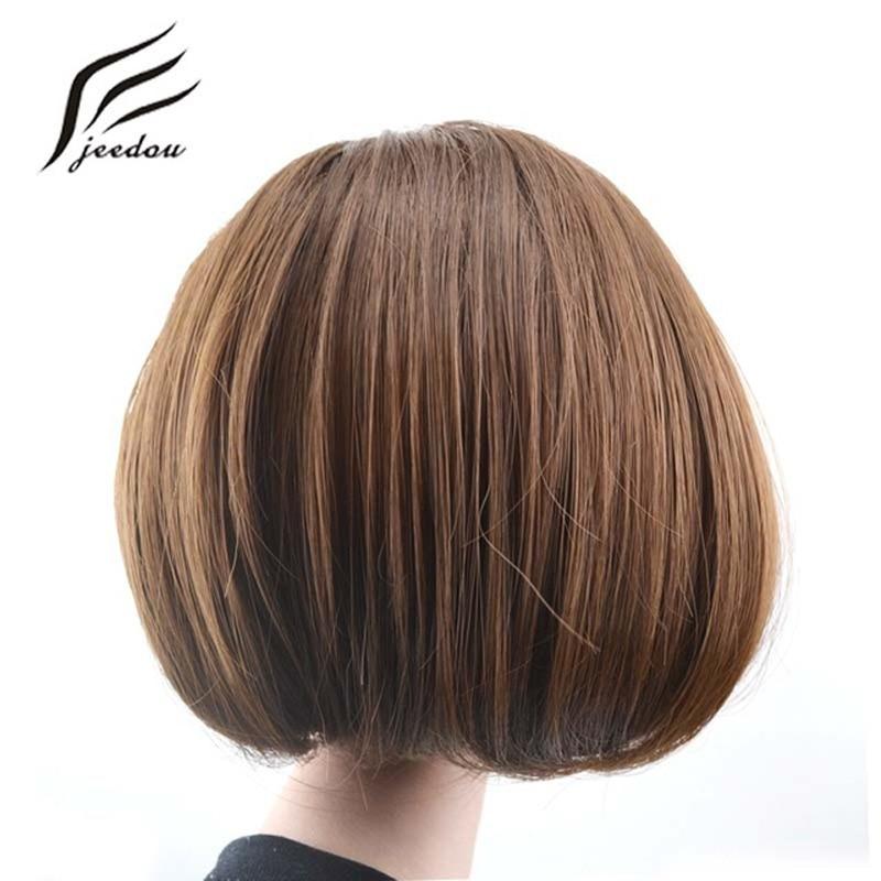 Jeedou Rambut Sintetis Serat Suhu Tinggi Chignon Blonde Warna Coklat 85g Rambut Bun Pad Donat Chignon Karet Band Hairpieces