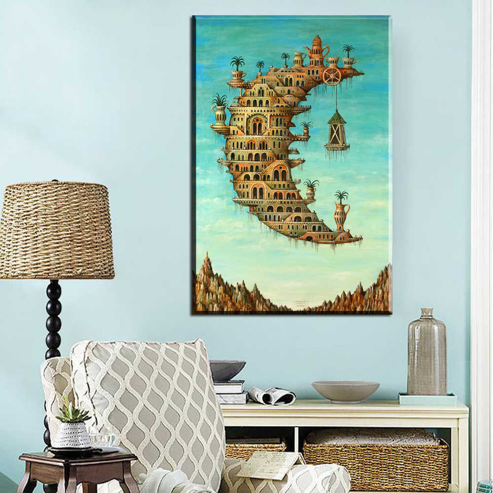 Embelish  Large Size Print Salvador Dali And Rene MagritteStill Life Abstract Pop Canvas Oil Painting Home Decorative Picture