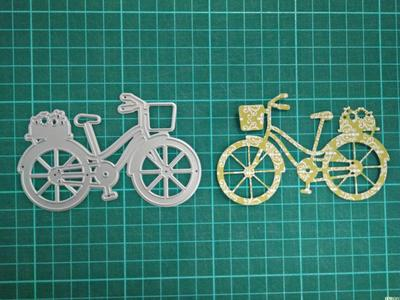 Bicycle Metal Die Cutting Scrapbooking Embossing Dies Cut Stencils Decorative Cards DIY album Card Paper Card Maker polygon hollow box metal die cutting scrapbooking embossing dies cut stencils decorative cards diy album card paper card maker