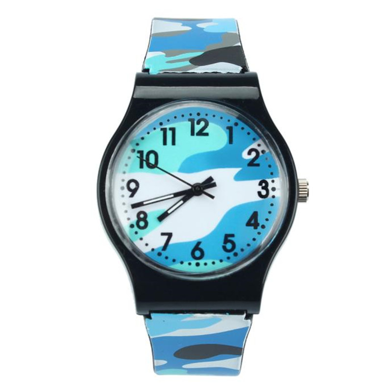Kid Watch Camouflage Children Watch Quartz Smart Wristwatch For Girls Boy Gift  Fashion Silicone Smartwatch #4M15