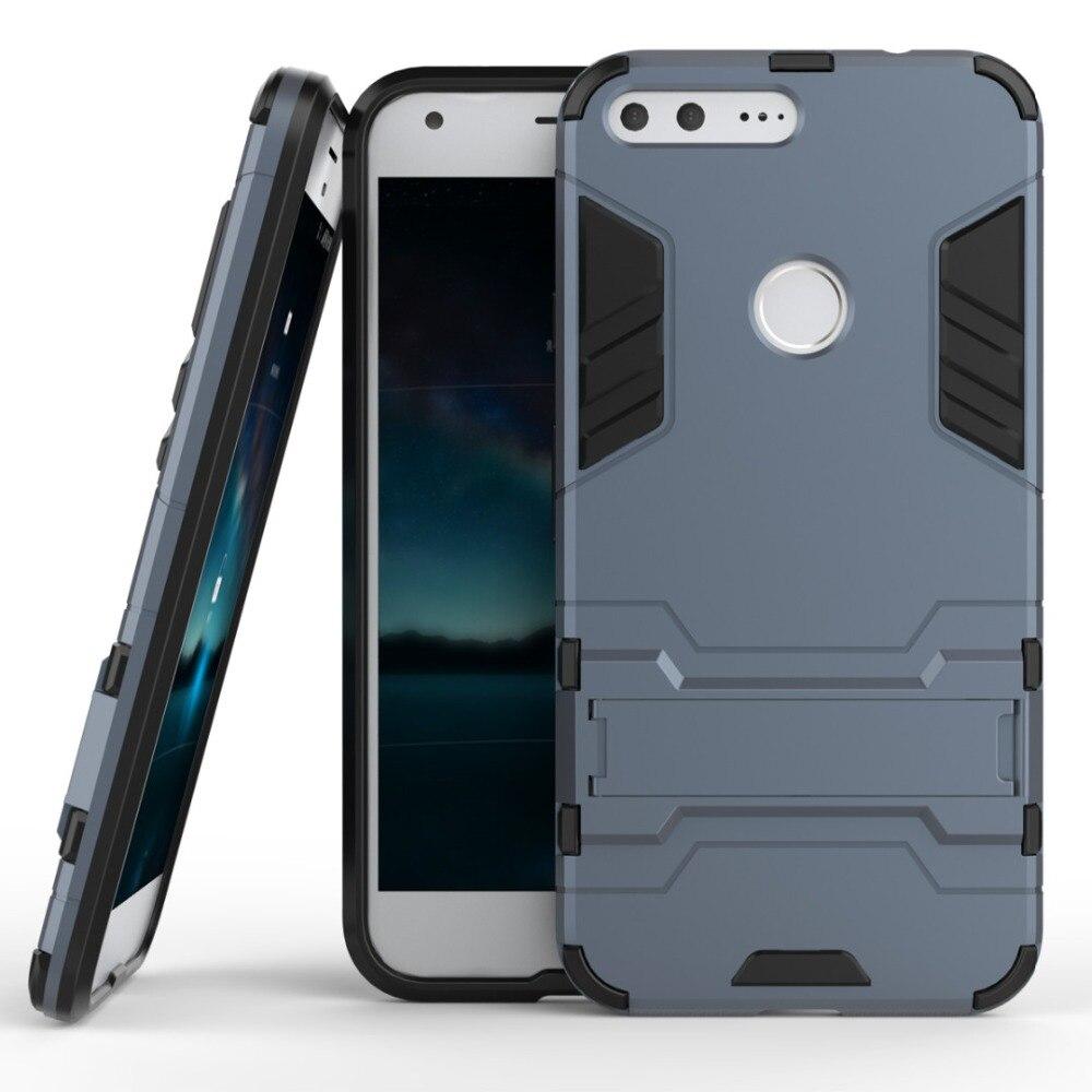 For Google Pixel / Pixel XL Case Slim Robot Armor Kickstand Shockproof Rubber Hard Back Case For Google Pixel Phone Cover