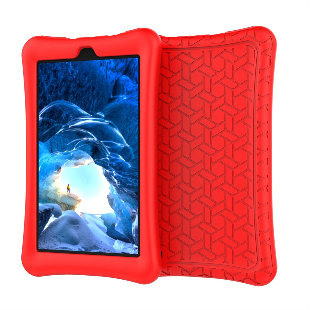 For 2017 Amazon Kindle Fire HD 7 Kids Silicone Case Cover Light Weight Durable Rotable Handle Protective Free-standing Kid