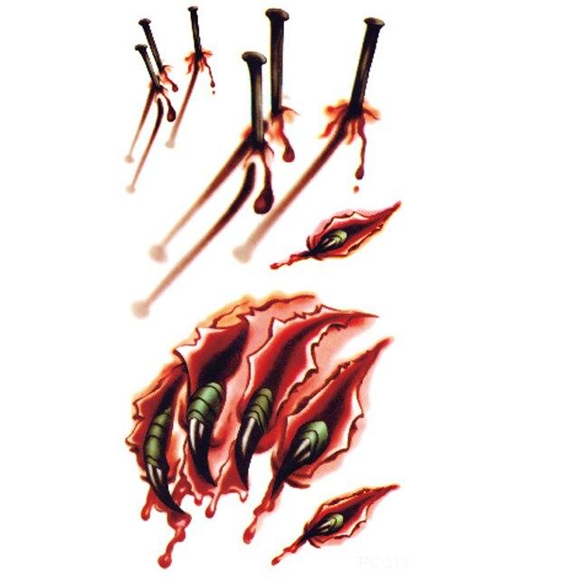 10 PZ Allu0027ingrosso Di Halloween Cose Interessanti Corpo Ferita  Ticchiolatura Sangue Halloween Cicatrice Tatuaggi
