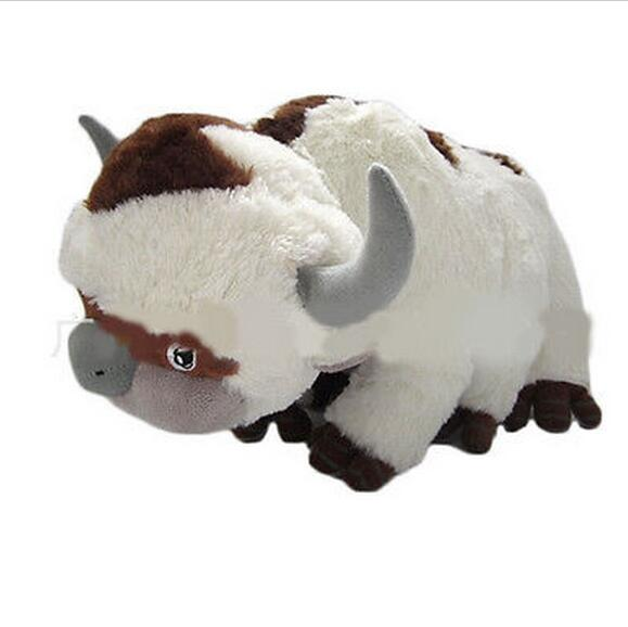 2020 Anime Kawaii Avatar Appa & Tiger Soft Stuffed Plush Toys Doll 45cm