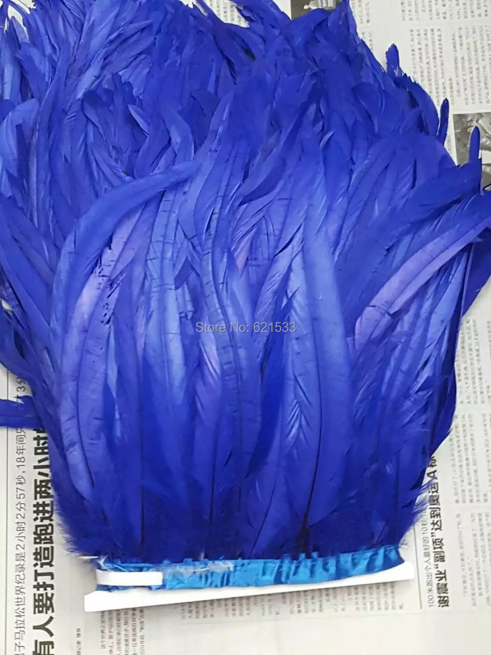 3dbe32409 الديك/كوكه tail الريشة هامش الملكي الأزرق اللون 10 متر تريم تقريبا 30-35  سنتيمتر في العرض