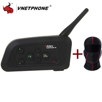 VNETPHONE V4 Motorcycle Bluetooth Helmet Intercom Headset 1200M Moto Wireless BT Interphone For 4 Riders Intercom