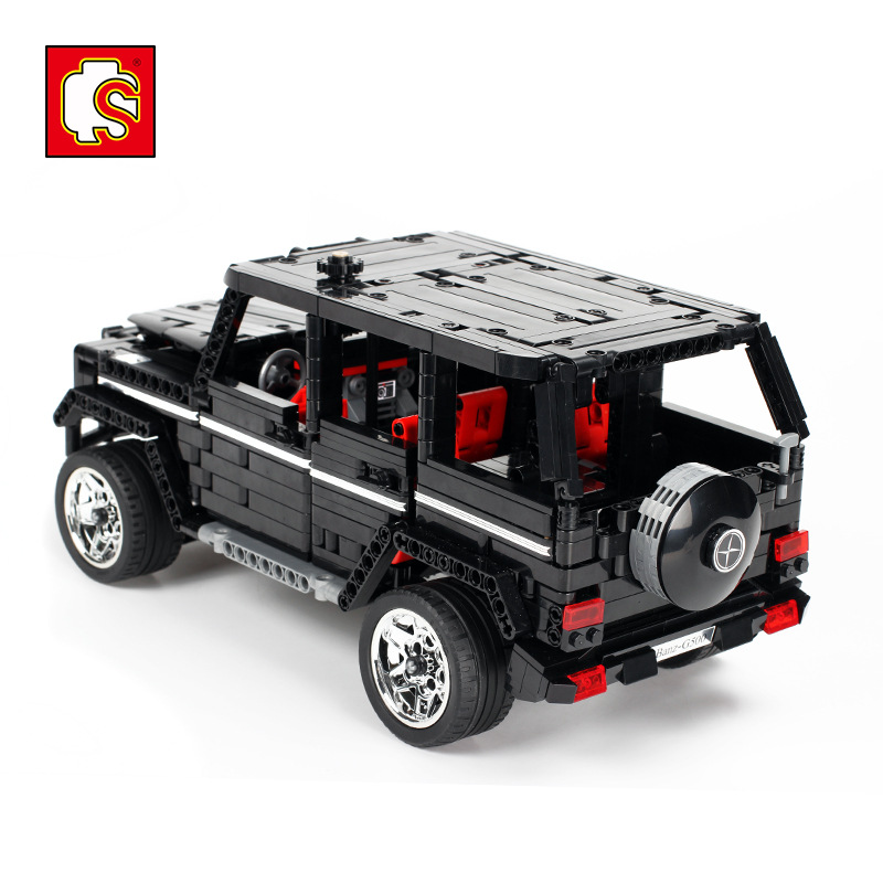 <font><b>701960</b></font> Technic Series Sembo G500 Mercedesal-benzg Big G Set Educational Building Blocks Bricks Toys For Children Christmas Gifts image