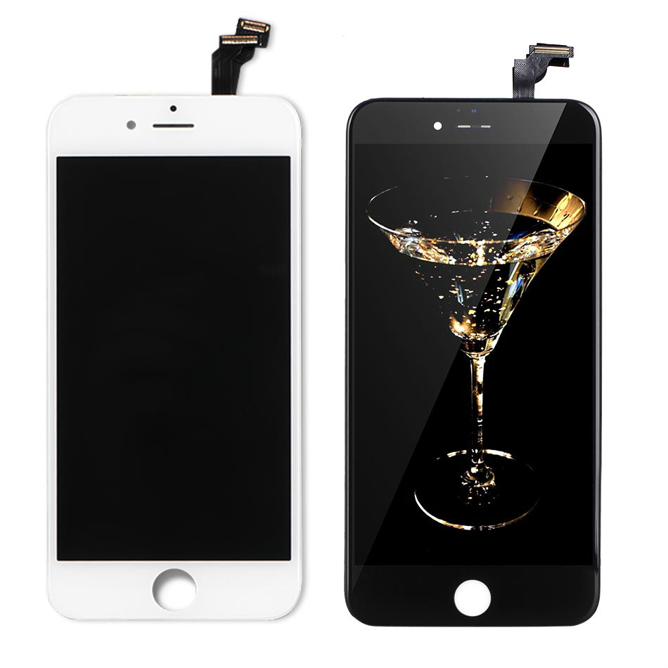 Mobymax AAA Quality LCD Screen For iPhone 6 Display Assembly Replacement with Original Digitizer Phone Parts Black/White+film ...