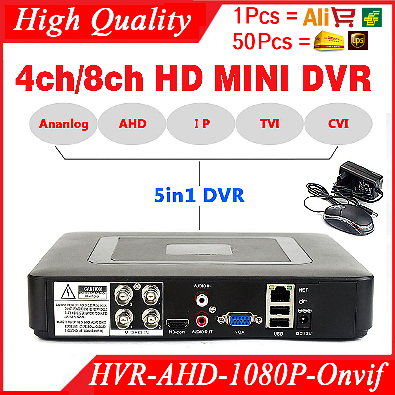 Smar Mini 4/8CH Full D1 H.264 HDMI Security System CCTV DVR 4/8 Channel 720P 1080P NVR Hybrid AHD DVR Recorder Mobile HVR RS485 reccagni angelo подвесная люстра reccagni angelo l 636 6 1