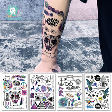 LC877/Fashion Geometric Temporary Tattoos Triangle Modern Style Unisex Letter Body