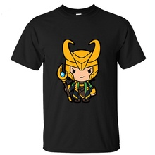 Cute Cartoon Loki t shirt Cotton Men T Shirt O Neck short sleeves tee casual tops Men Size XS-XXL