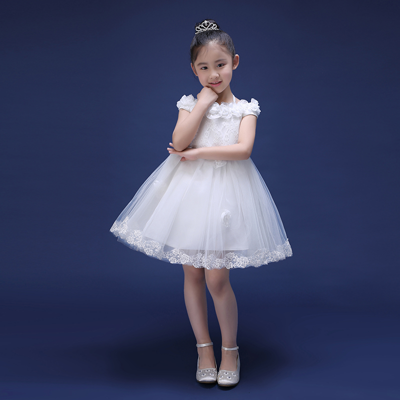 Shoulderless Knee-Length Kids Girls Dress New Princess Dress Ball Gown Flower Girl Pageant Dresses For Wedding Birthday 4pcs new for ball uff bes m18mg noc80b s04g