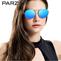 Parzin Vintage Sunglasses Women Metal Round Frame Polarized Sunglasses Male  Driving Glasses  With Case  Black 8082