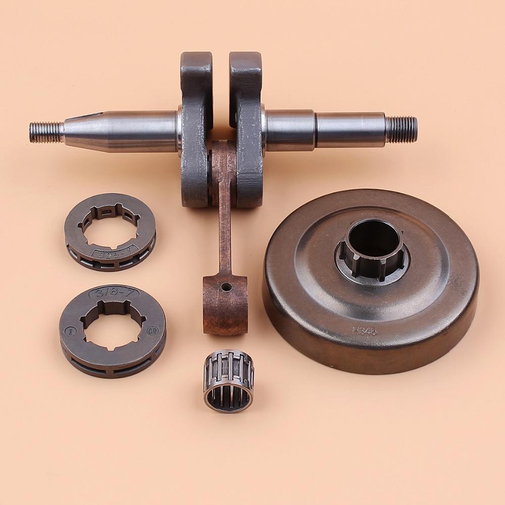 Crank Shaft Clutch Drum Sprocket Rim Wheel Bearing Kit Fit HUSQVARNA 350 345 340 Gasoline Chainsaw Spares