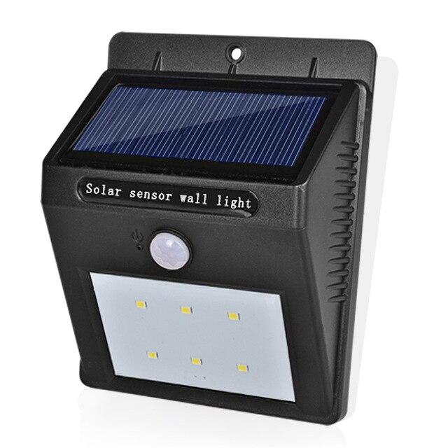 Солнечная Светодиодные лампы Водонепроницаемый IP65 Солнечный свет Мощность сад led Солнечный свет открытый ABS бра