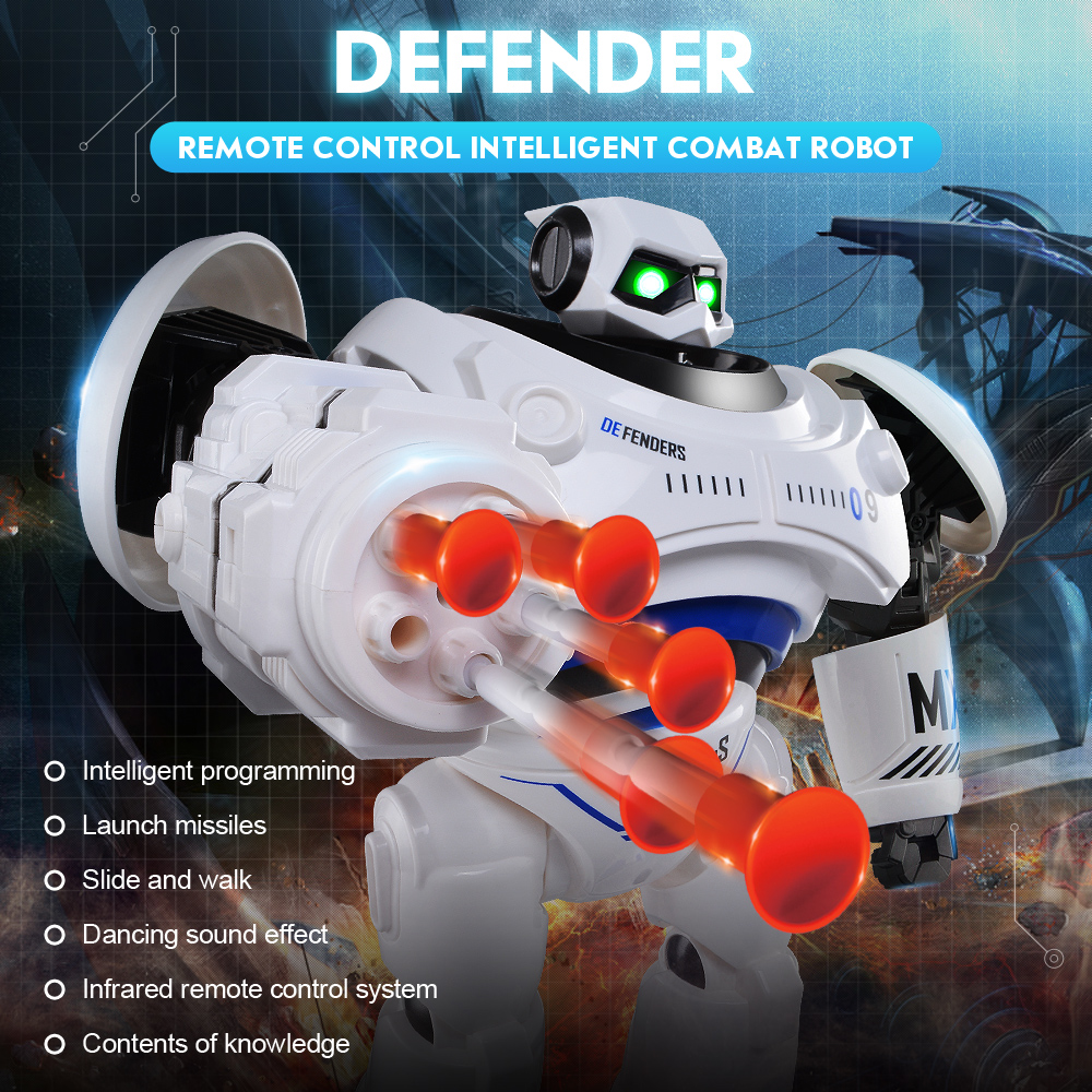 JJR/C JJRC R1 Programmable Defender Intelligent RC Remote Control Toy Dancing Robot for Kids Birthday Holiday Gift Present VS R2 jjr c jjrc r3 cady will sensor control intelligent combat dancing gesture rc robot toys for kids christmas gift present vs r1 r2