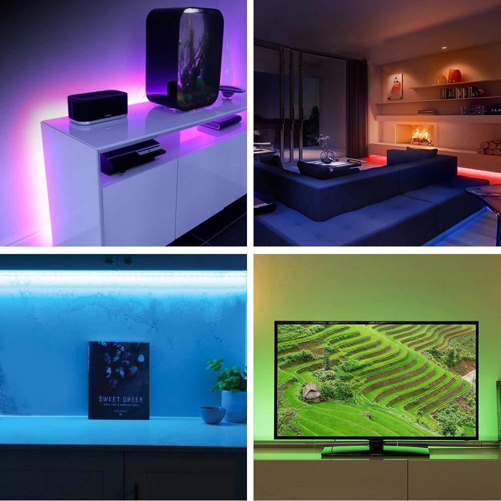 HTB1knSqpYZnBKNjSZFKq6AGOVXaI 5M WiFi Bluetooth LED Strip DC 12V SMD 5050 Non waterproof Flexible RGB Tape Ribbon Light Works With Amazon Alexa Google Assist