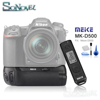 Meike MK D500 Pro Vertical Battery Grip Built in 2.4GHZ FSK Remote Control Shooting for Nikon D500 Camera as MB D17
