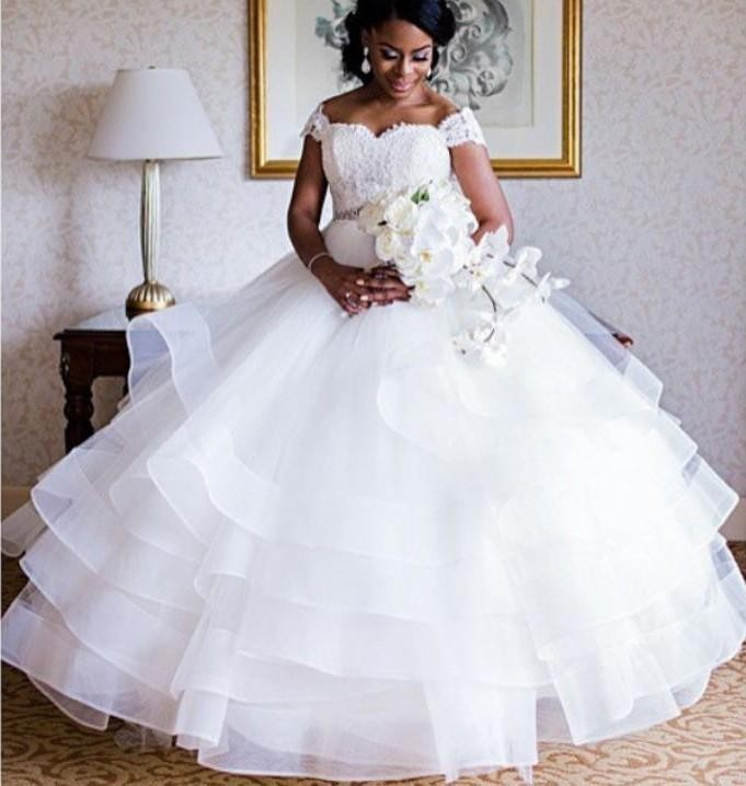 Don s Cap Sleeve Muslim Luxury Princess flowers font b Wedding b font font b Dresses