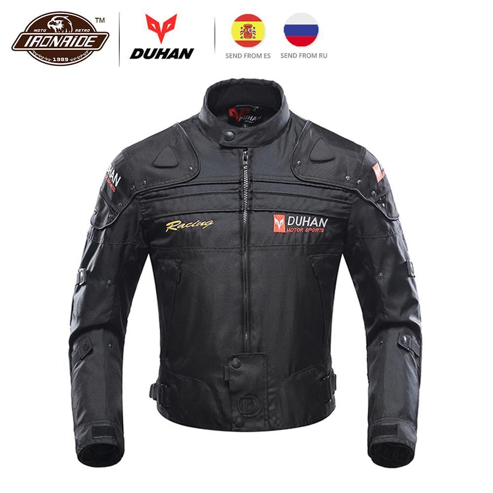 Homens Chaqueta Jaqueta DUHAN Motocicleta Moto Motocross Protetor de Moto Roupas Jaqueta de Moto À Prova de Vento Com Remover Linner