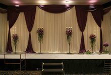 Wedding 3mx6m stage backdrop decoration stage background with Beatiful Swag wedding stage curtain