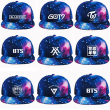 c86acda61ad New Fashion Harajuku 3D Hats Kpop BTS GOT7 EXO Seventeen Twice Monsta X Baseball  Cap Cool