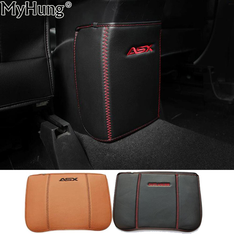 For Mitsubishi ASX Outlander 2013 To 2016 Car Armrests Kick Pad Rear Seat Protection Interior Decoration Car Styling Accessories car styling interior speaker audio ring cover decoration trim for mitsubishi asx outlander sport us 2013 2014 2015 2016 page 8