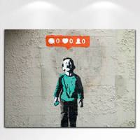 Banksy Art Home Decor Painting Print Giclee On Canvas Framed Wall Art Canvas Posters Spray Perfect