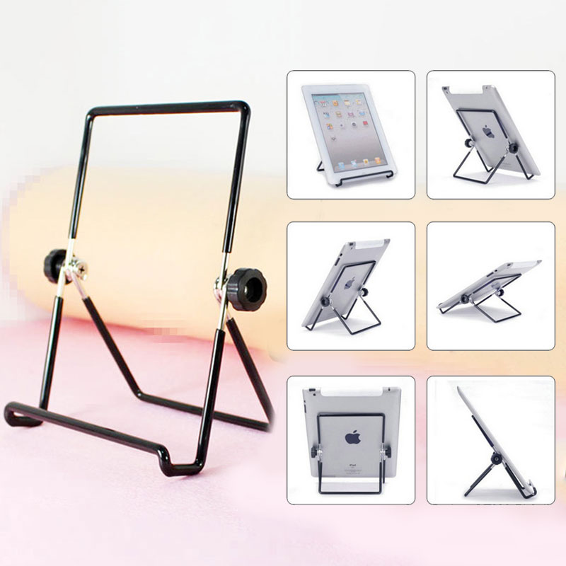 BBGear Adjustable Metal Mobile Phone Holder for iPhone 6 7 8 Plus iPad Samsung Galaxy Tablet Universal Iron Frame Phone Bracket