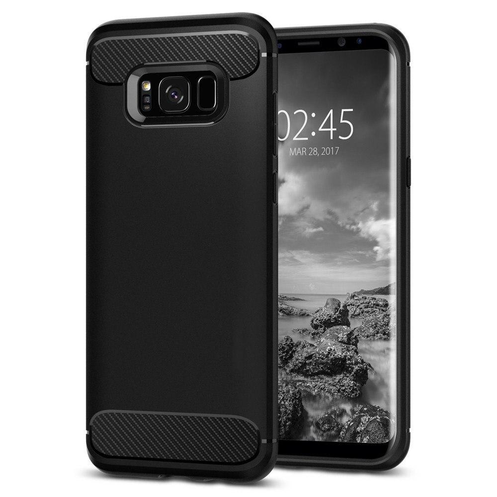 Цена за оригинал SPIGEN RUGGED ARMOR чехол для Galaxy S8 / S8 Plus Гибкая Прочный Anti-Slip ТПУ Оборонительный Чехлы для Samsung Galaxy S8 Plus / S8