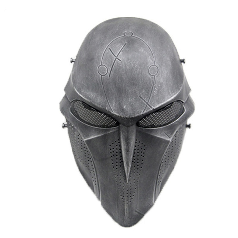 Scary Death Skull Full Face Airsoft Paintball Mask Cosplay Halloween Masks Mesh Army Military Wargame Tactical Mask