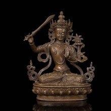 Chinese Style Bronze Buddha Statue Tibetan Buddhism supplies  Manjusri Buddisattva