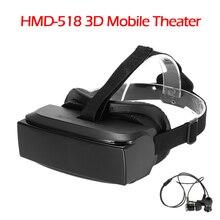 "HMD-518 80 ""หน้าจอกว้าง1080จุด3Dวิดีโอเกมภาพยนตร์แว่นตาVRชุดหูฟังความเป็นจริงเสมือนส่วนตัวมือถือCinemaส่วนบุคคลTheateภาพยนตร์"
