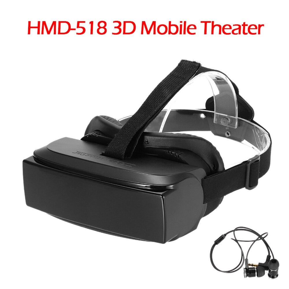 "HMD-518 80"" Wide Screen 1080P 3D <font><b>Video</b></font> <font><b>Movie</b></font> <font><b>Game</b></font> <font><b>Glasses</b></font> <font><b>VR</b></font> Virtual Reality Headset Private Mobile Cinema <font><b>Personal</b></font> Theate <font><b>Movie</b></font>"