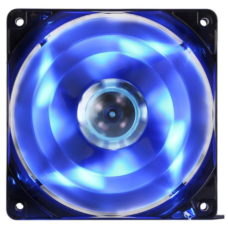 DC 12V 120mm 4 LED Noiseless PC Computer Case Cooling Cooler Fan 1300RPM(blue) alseye blue led computer cpu cooler 120mm case fan high air flow water cooling fan 4 leds dc 12v 3pin 1800rpm cooling fans