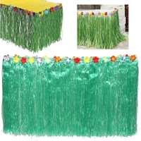 Artificial Green Grass Table Skirt Outdoor Patio Garden Hawaiian Beach Party Camping Events Decoration Party Favor