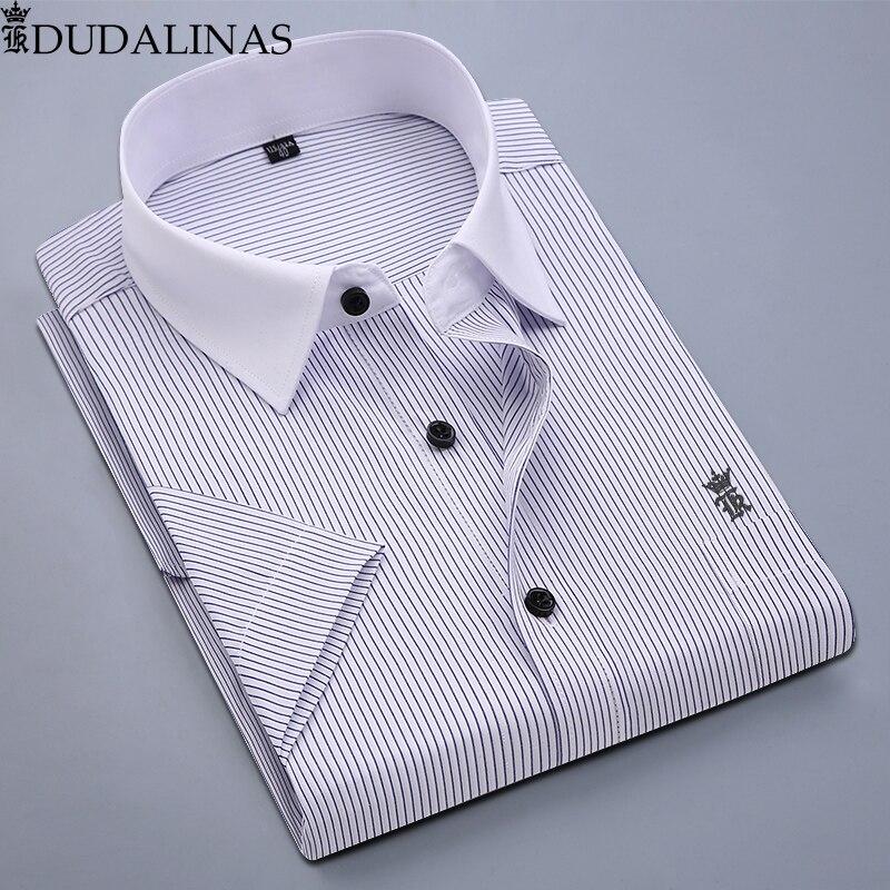 a04c0131c87b593 Dudalina 2019 Мужская рубашка Camisa Roupas повседневное полосатый  социальной рубашка с длинными рукавами Aramy camisates брендовая