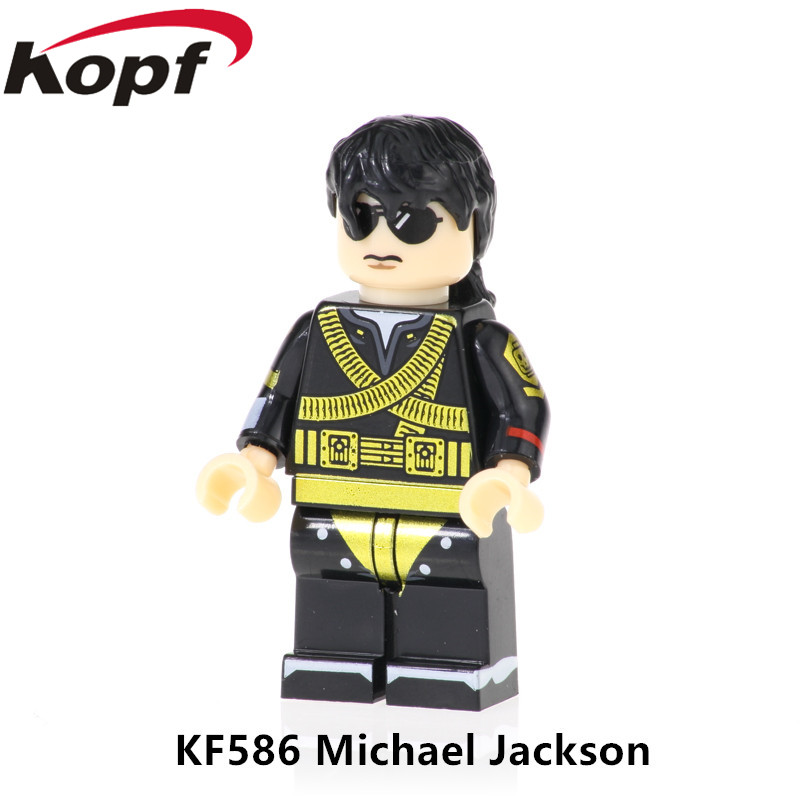 Model Building Official Website Kf586 Single Sale Building Blocks Super Heroes Michael Jackson Elvis Aron Rresley Action Figuers Model For Children Toys Gift Lovely Luster Blocks