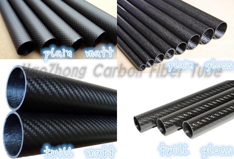 21mm ID Matte 25mm OD 1000mm Length 3K Roll Carbon Fiber Tube 25 21 1000