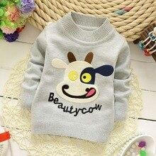Roupas o трикотаж bebe вязание пуловеры младенческой шеи девочки животных де