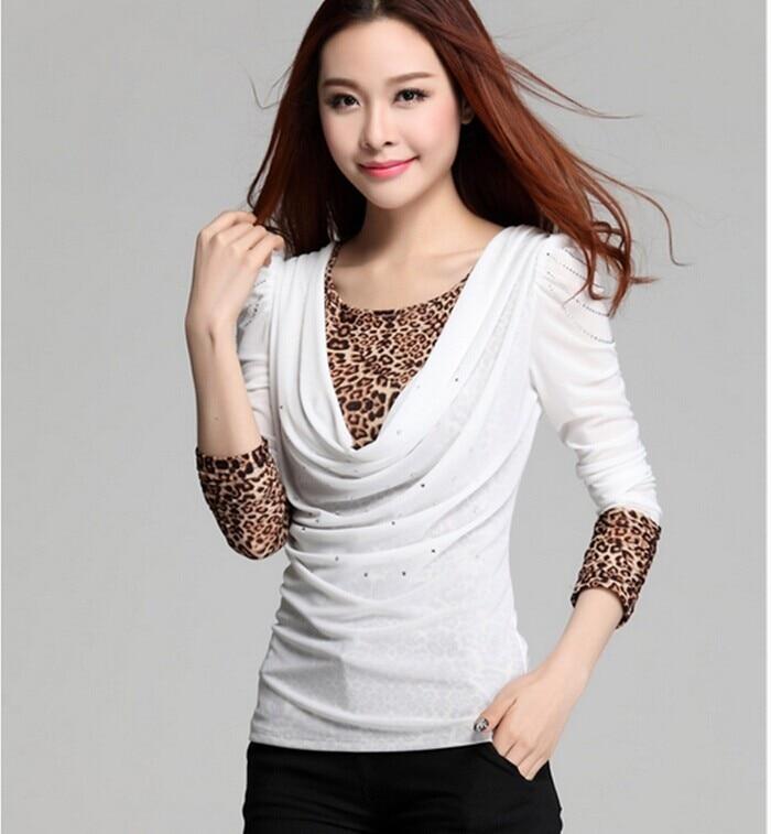 M~3XXXL! 2016 New Vintage Leopard Print T shirts Women ...
